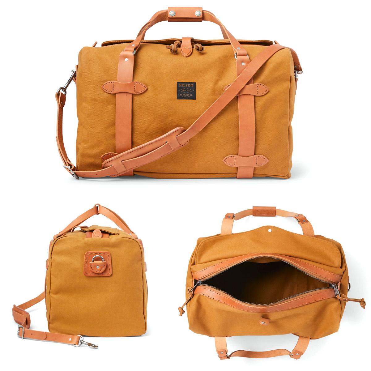 Filson Duffle Medium Chessie Tan, travelbag made for heavy-duty trips