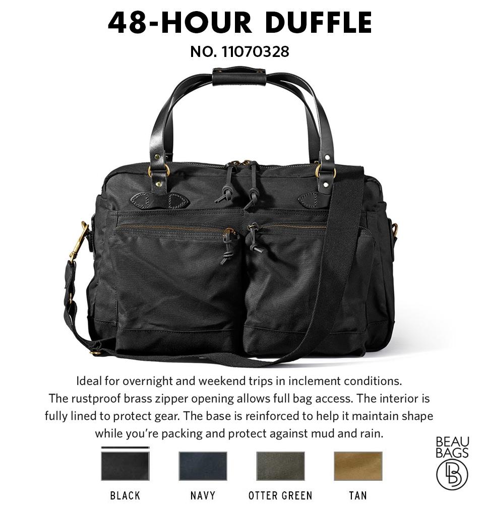 1cc593c2e8 ... Filson 48-Hour Duffle 11070328 Black color-swatch and description