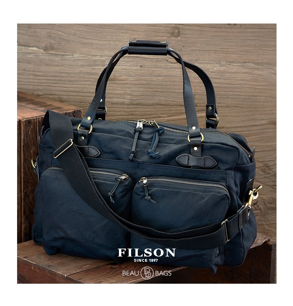 10ae001136 ... back Filson 48-Hour Duffle 11070328 Navy color-swatch Filson 48-Hour  Duffle 11070328 Navy color-swatch and description