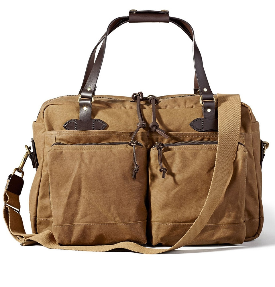 Filson 48-Hour Tin Cloth Duffle Bag 11070328-Dark Tan