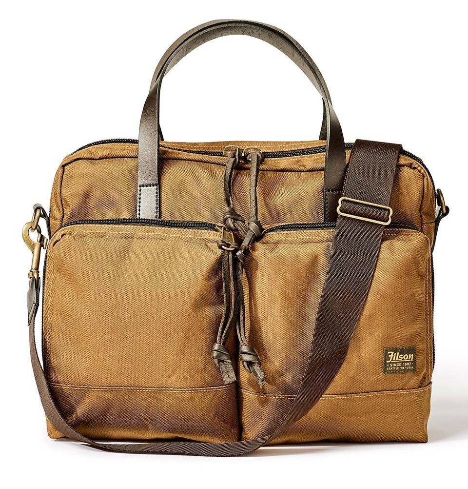 Filson Dryden Briefcase 20049878-Whiskey