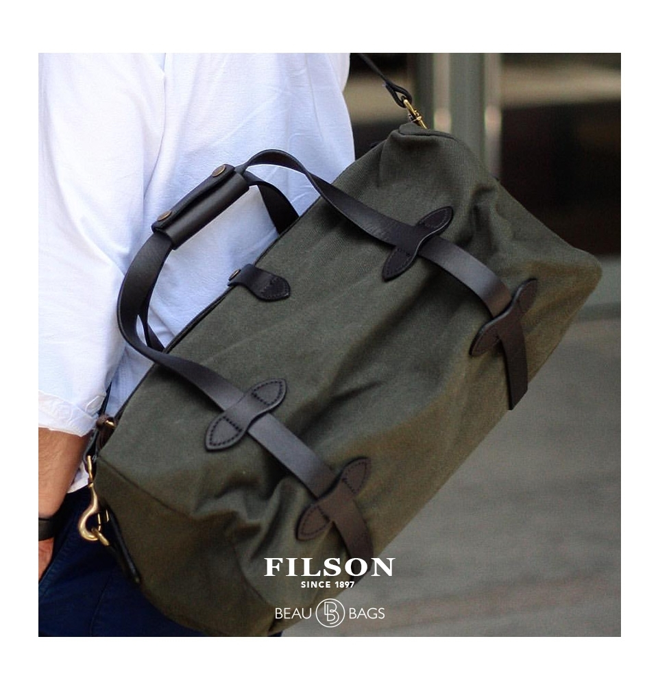 ee845a094502 ... Filson Duffle Small 11070220 Otter Green lifestyle ...