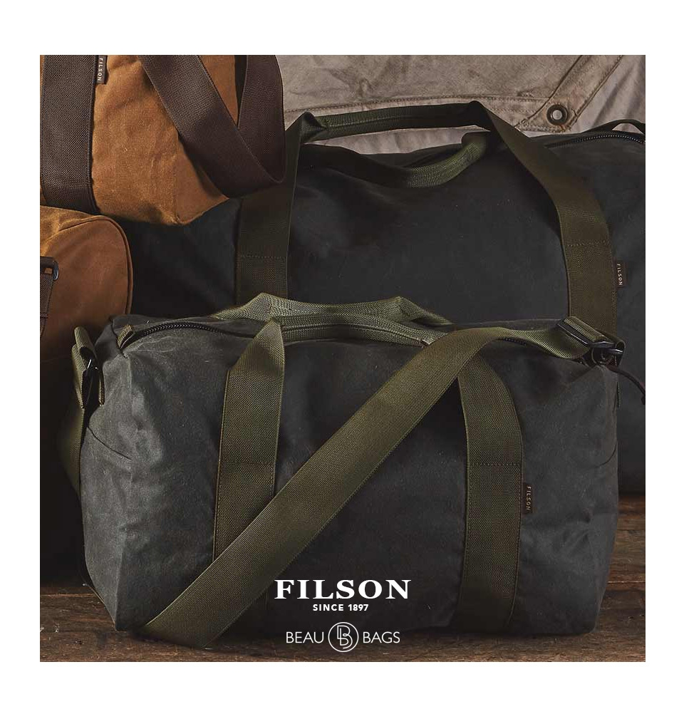 f4991360ff51 ... Filson Field Duffle Small Spruce lifestyle back