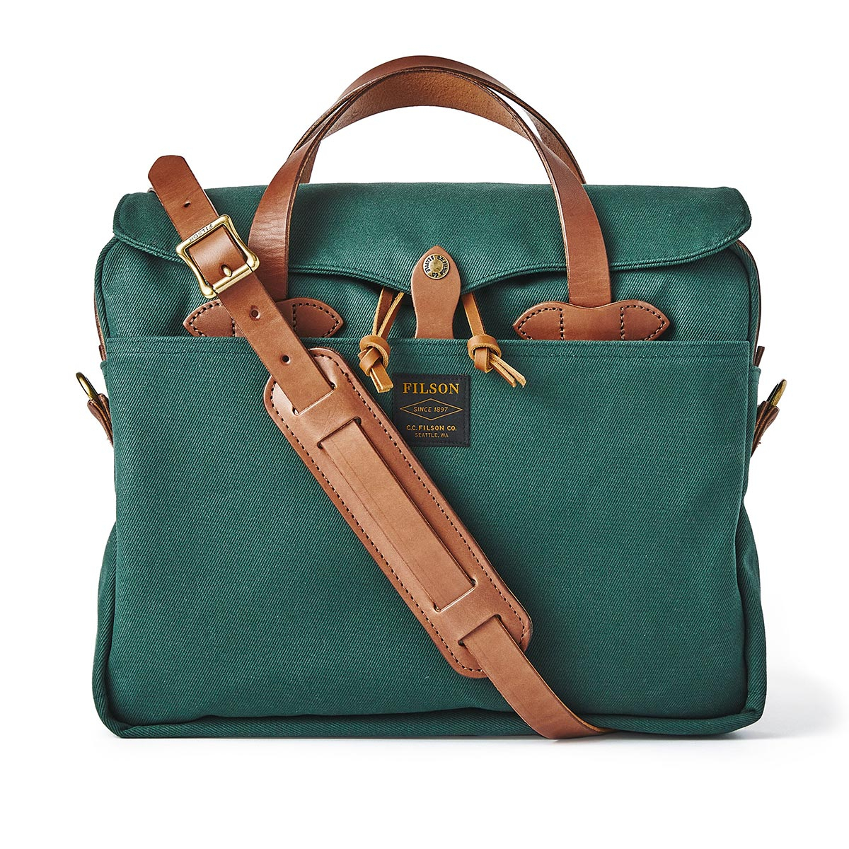 Filson Rugged Twill Original Briefcase 20195528-Hemlock