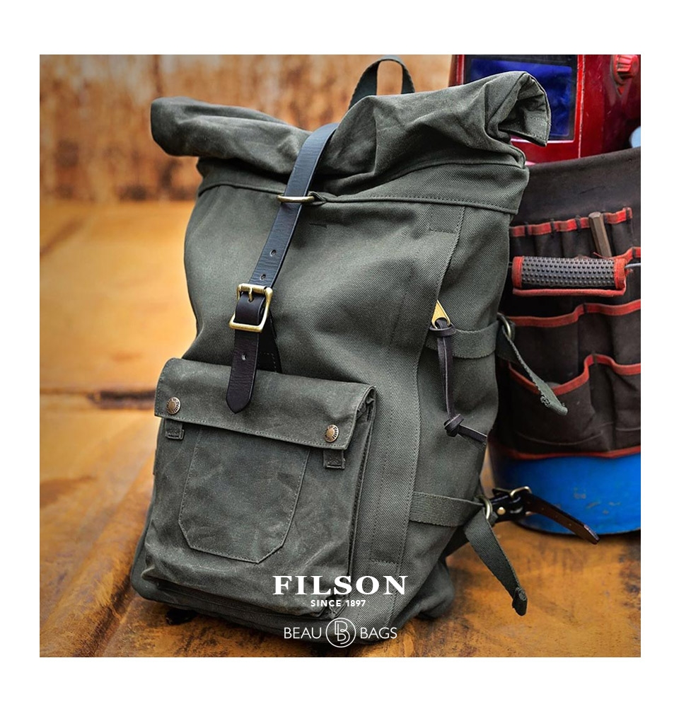Filson Roll Top Backpack Otter Green Roomy Nearly