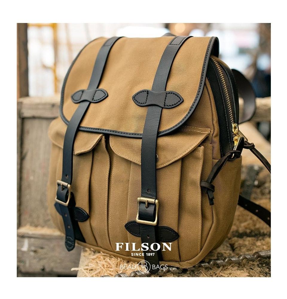 ... back Filson Rucksack 11070262 Tan lifestyle. Filson Rugged Twill ... 1558b86fd8