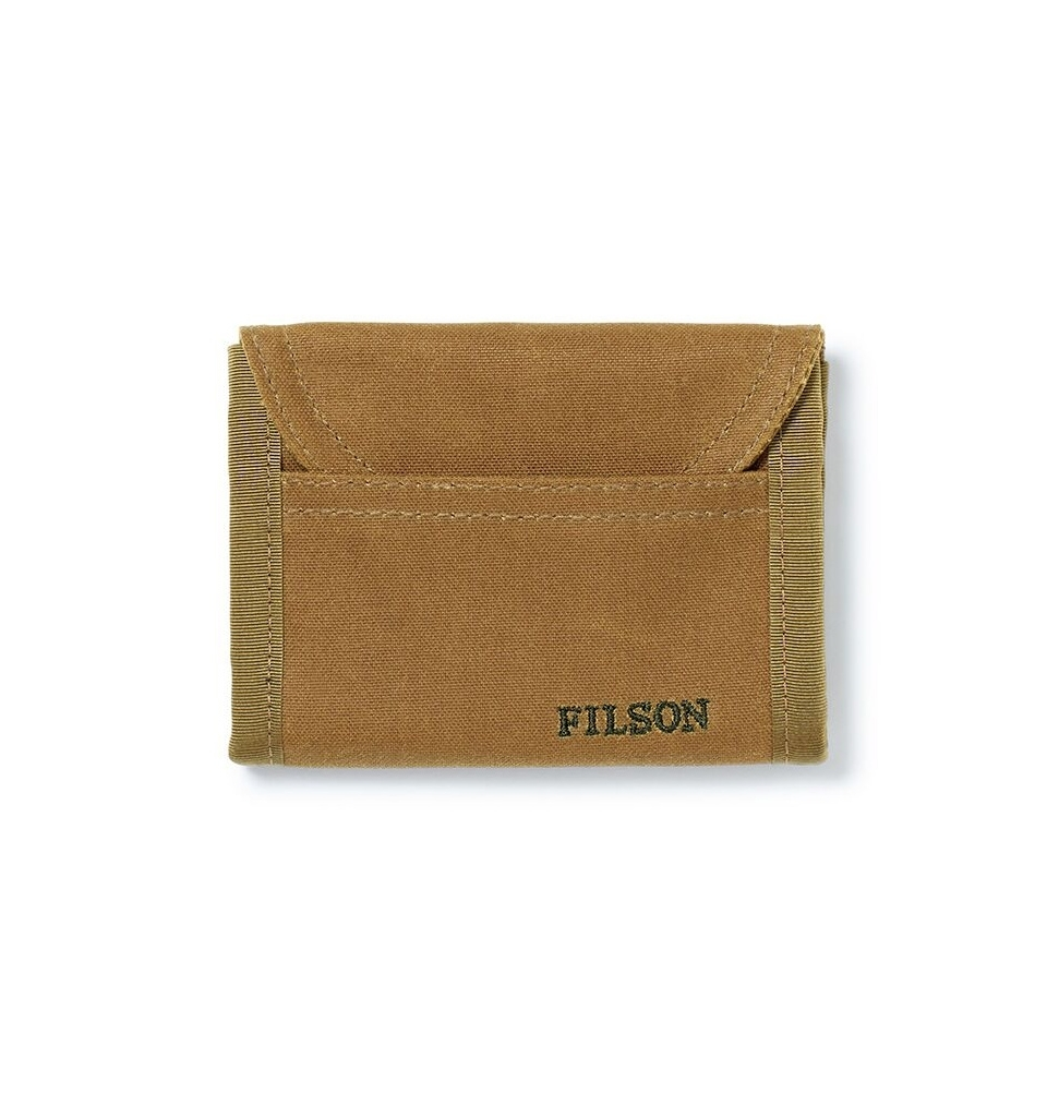 Filson Tin Cloth Smokejumper Wallet 20051128 Dark Tan