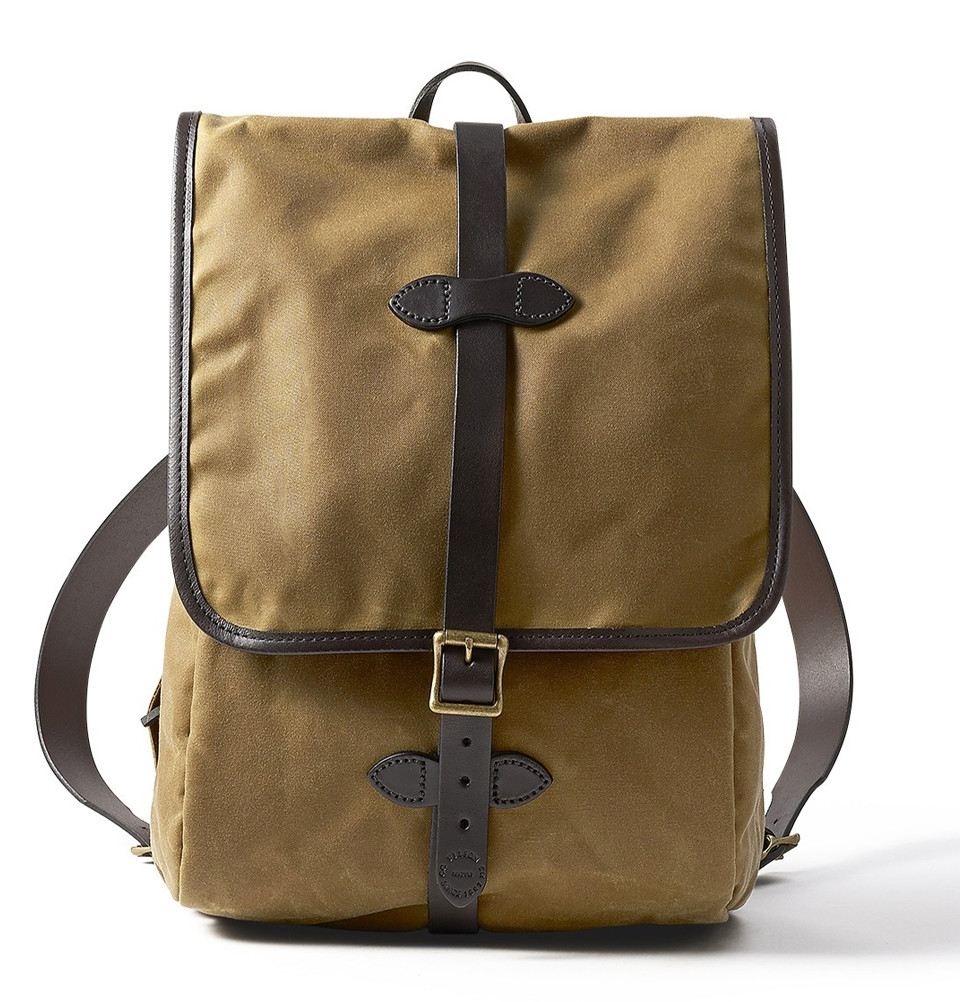 Filson Tin Cloth Backpack Tan, tear-resistant, water-repellent ... 58accb5cbd