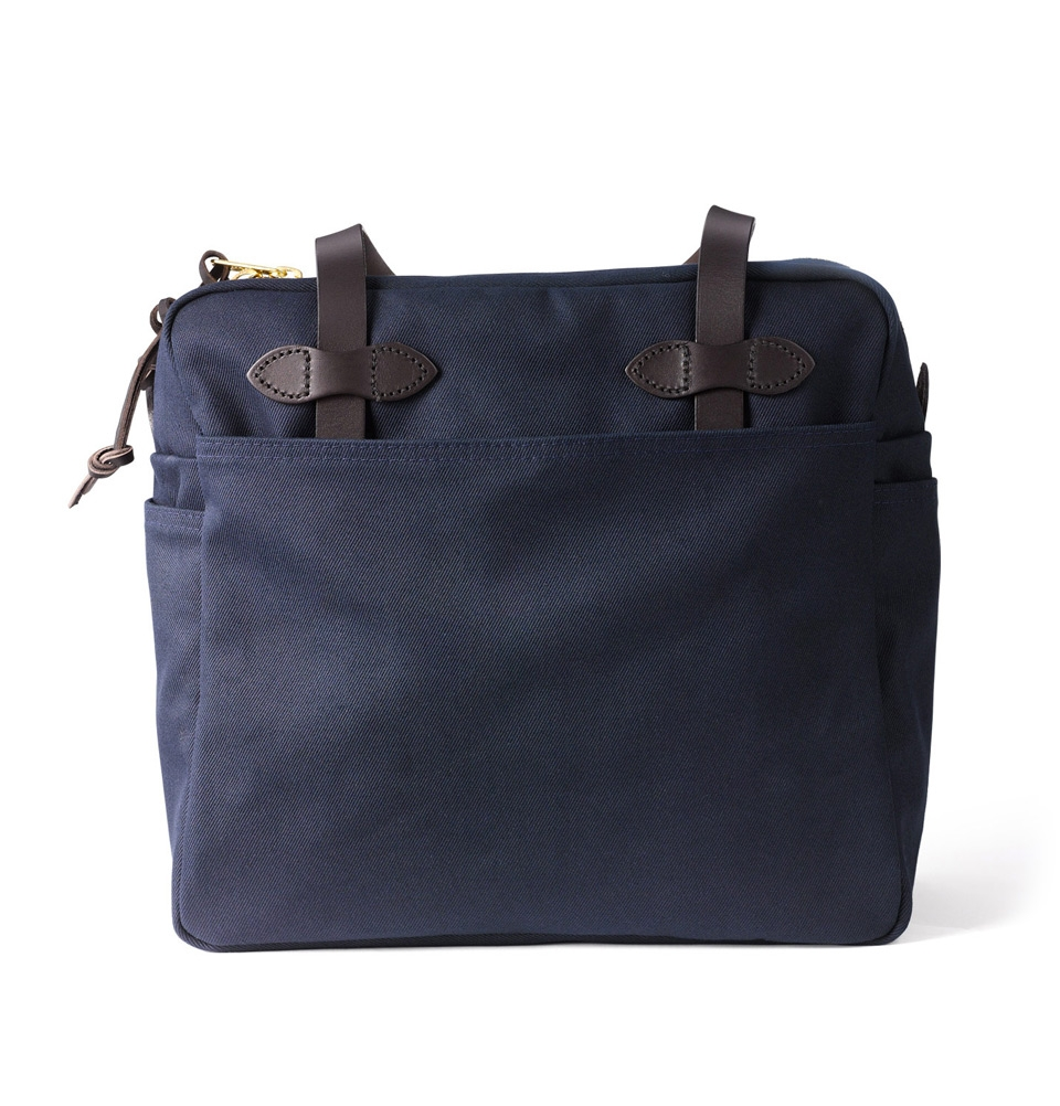 Tote bag with zipper Navy | perfect bag with style and character ...