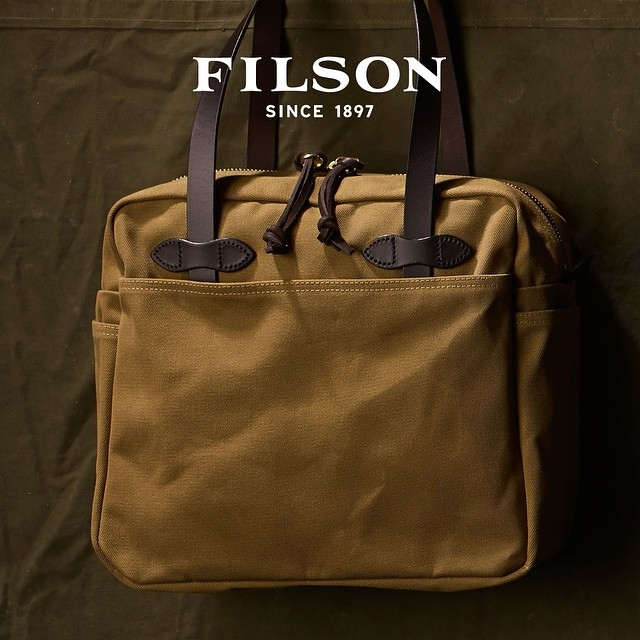 2afb1ba2734 Filson Rugged Twill Tote Bag With Zipper 11070261-Tan