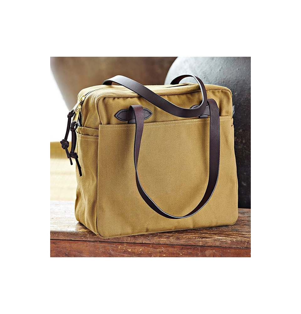 Filson Tote Bag With Zipper 11070261 Tan On The Go