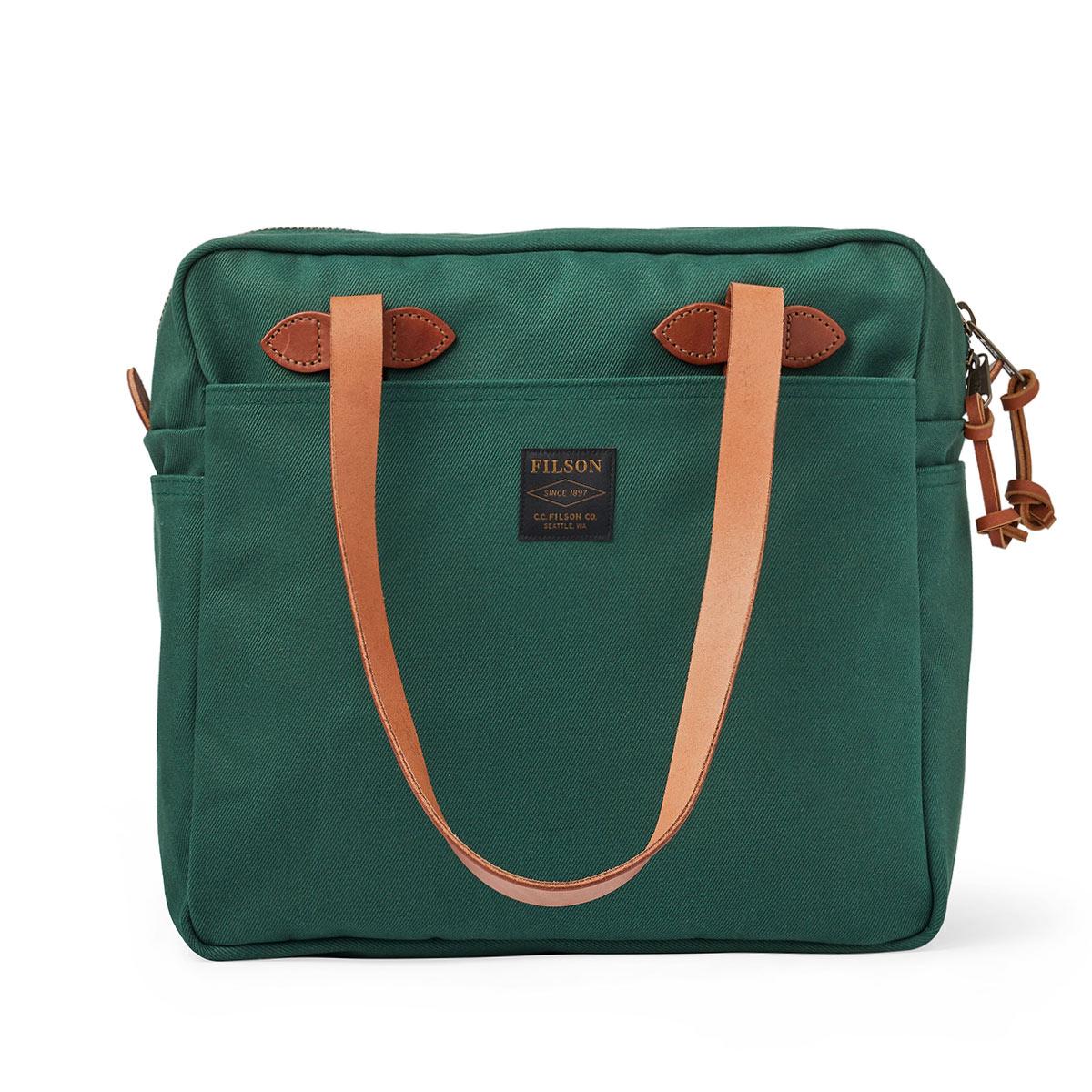 Filson Rugged Twill Tote Bag with Zipper 20192728-Hemlock