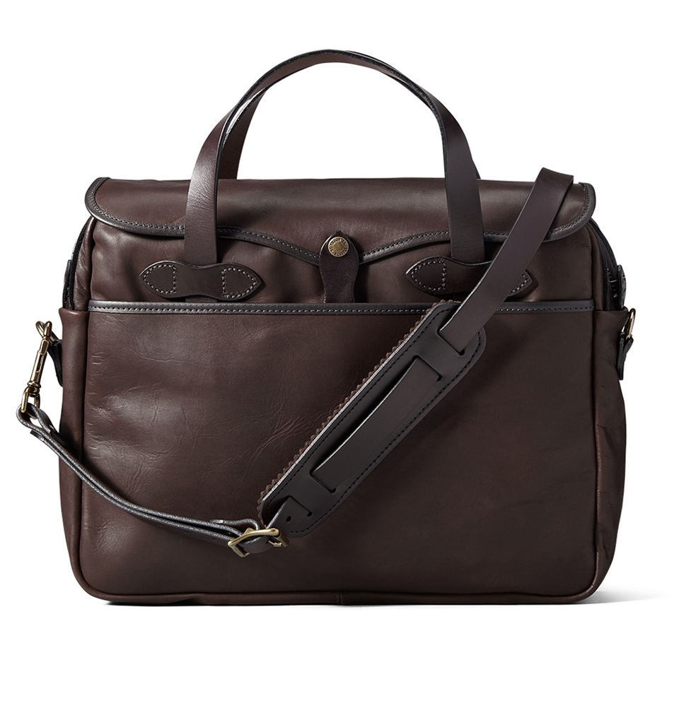 Filson Weatherproof Leather Original Briefcase 11070394-Sierra Brown