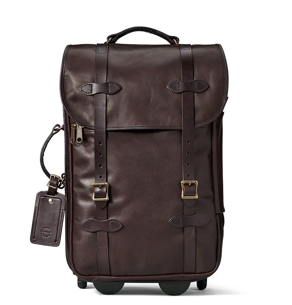 Filson Weatherproof Leather Rolling Carry-On Bag-Medium 11070439-Sierra Brown