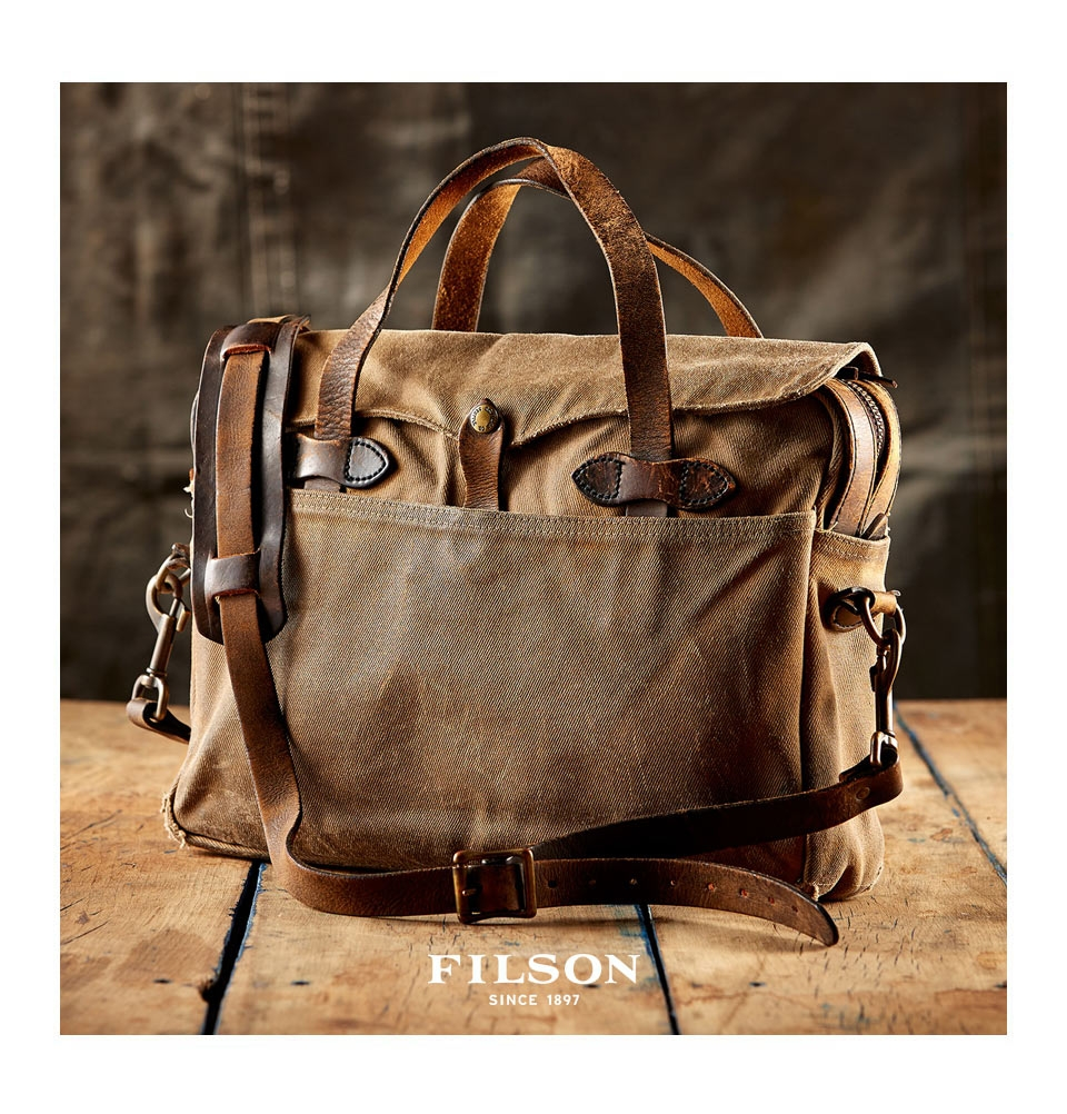 Filson Original Briefcase Tan Perfect Bag With Style And