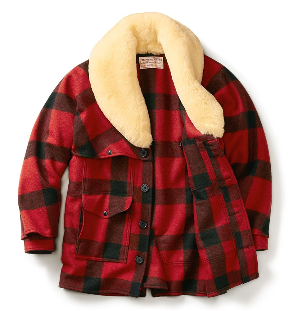 Filson Wool Packer Coat Red Black Made With Extremely