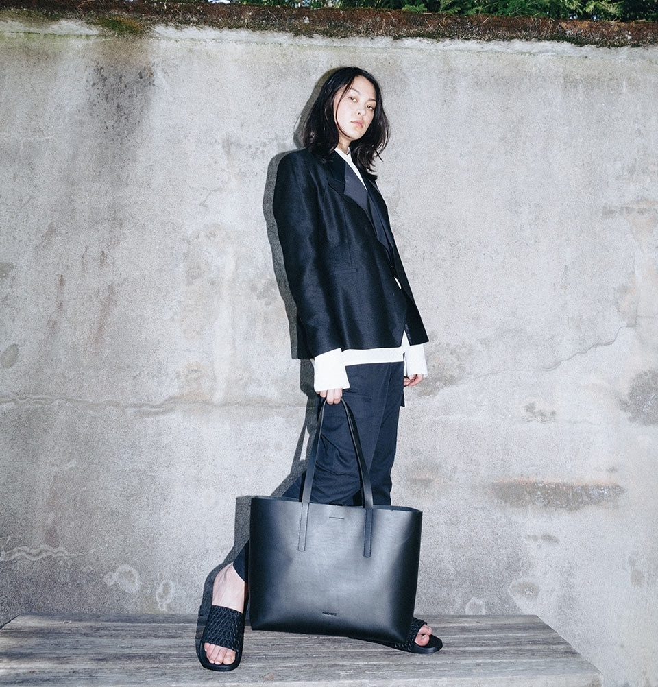 Sandqvist Emma Tote Bag Black 13 Quot Tote Bag In Vegetable