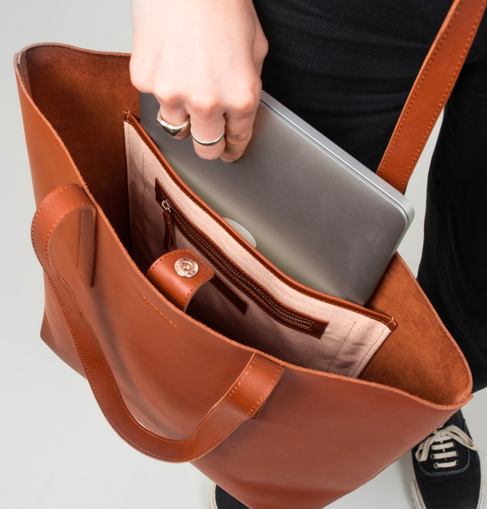 Sandqvist Helga Tote Bag Cognac Brown 13 Quot Tote Bag In