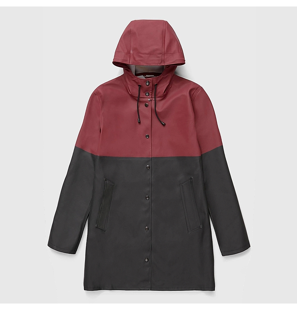 Stutterheim Stockholm Blocked Burgundy Black