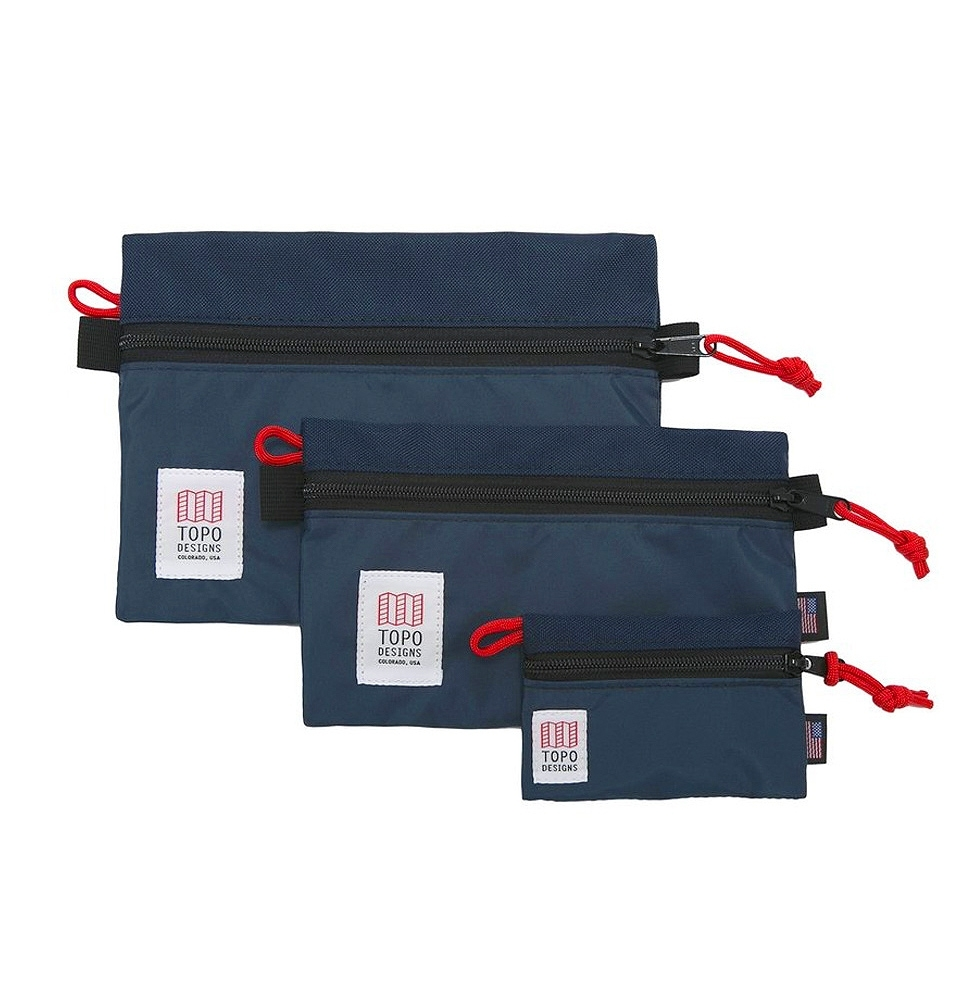 Topo Designs Accessory Bags 3 Pack Navy