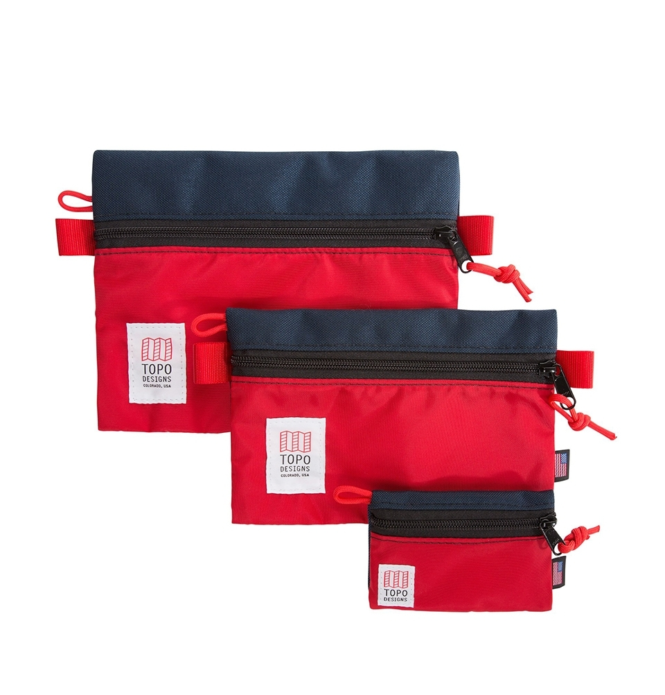 Topo Designs Accessory Bags 3 Pack Navy/Red