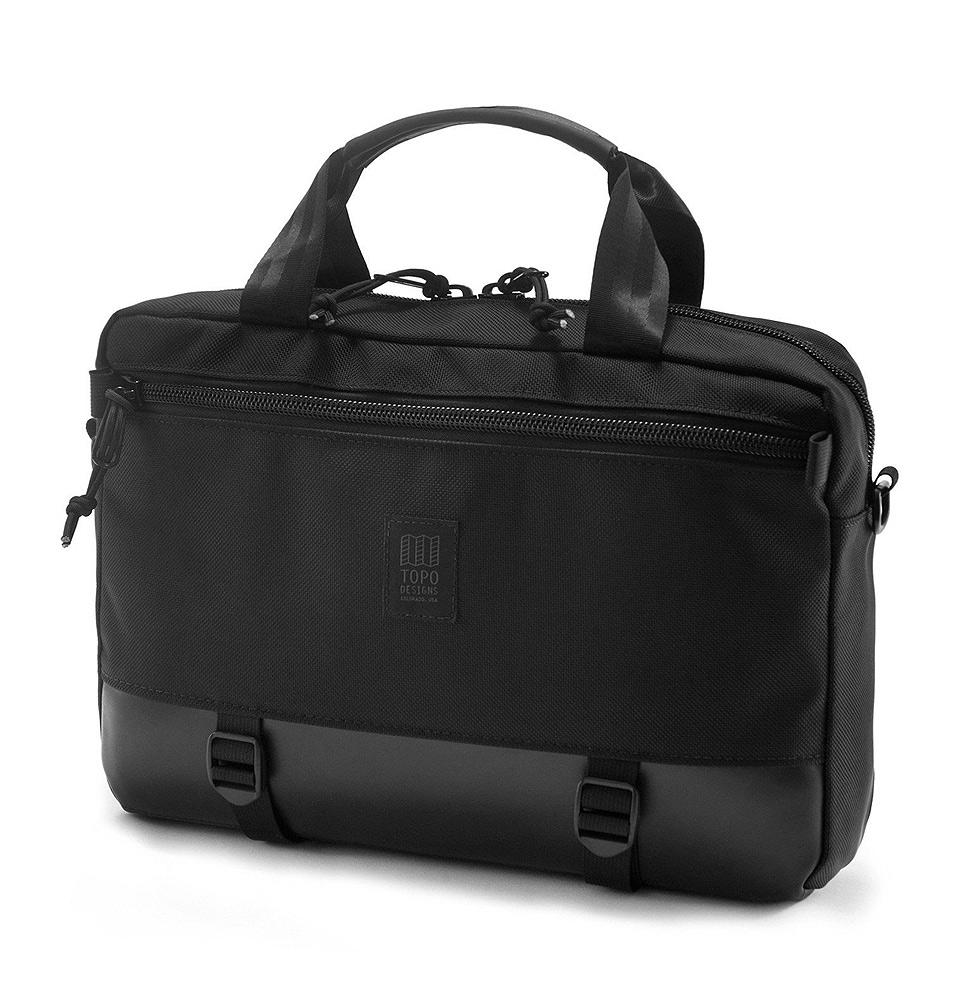 Topo Designs Commuter Briefcase Ballistic/Black Leather