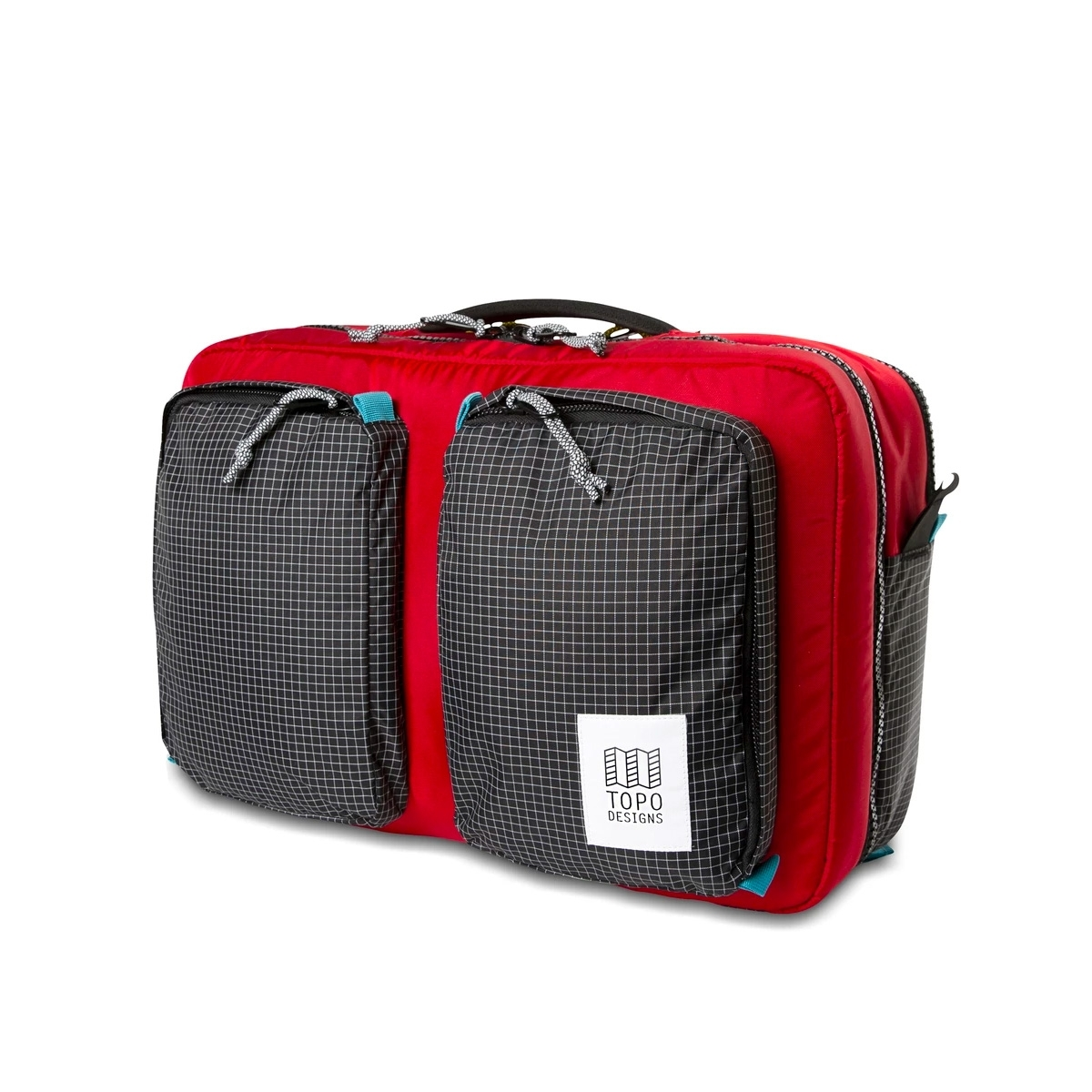 Topo Designs Global Briefcase 3-day Red/Black Ripstop