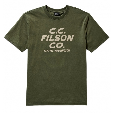 Filson Outfitter Graphic T-shirt Otter Green