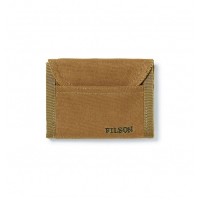Filson Tin Cloth Smokejumper Wallet Dark Tan