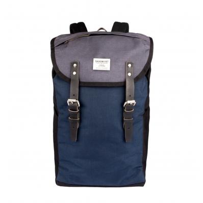 Sandqvist Hans Backpack Multi Black-Blue-Grey