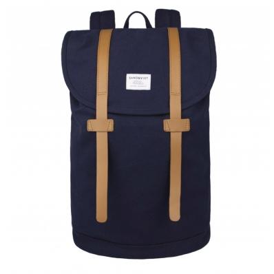 Sandqvist backpack Stig Large Blue front