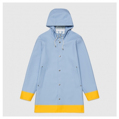 Stutterheim Stockholm Raincoat Blue Fog front