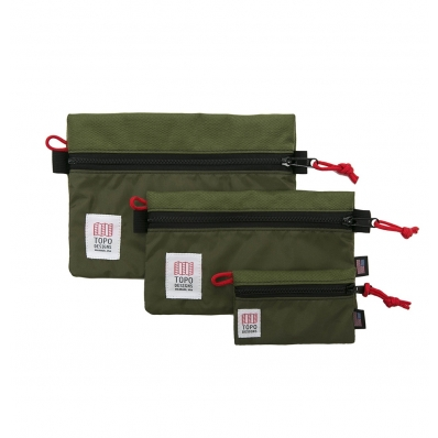 Topo Designs Accessory Bags Olive Set of 3