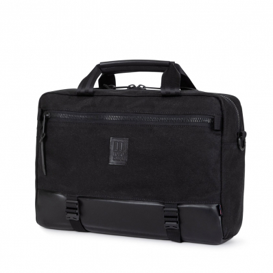 Topo Designs Commuter Briefcase Heritage Black Canvas/Black Leather