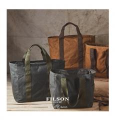 Filson Grab 'N' Go Tote-Medium 11070390-DarkTan/Brown front
