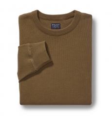 Filson Waffle Knit Thermal Crewneck Shirt 20067706 Olive