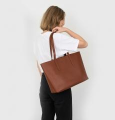 Sandqvist Emma Tote Bag Cognac Brown