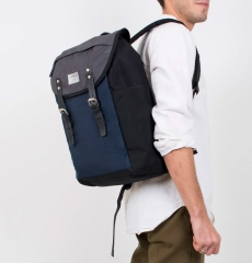 Sandqvist Hans Backpack Multi Black-Blue-Grey