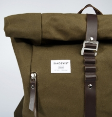 Sandqvist Backpack Rolf Waxed Olive