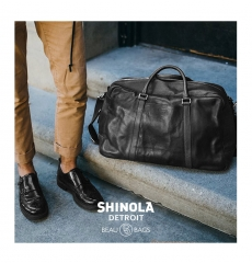 Shinola Signature Duffle Black front