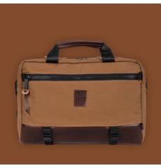 Topo Designs Commuter Briefcase Heritage Dark Khaki Canvas/Dark Brown Leather