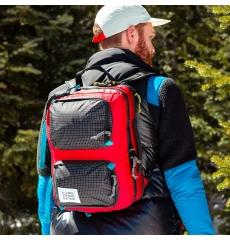 Topo Designs Global Briefcase Red/Black Ripstop