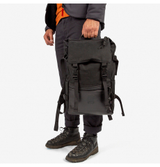 Topo Designs Rover Pack Ballistic Black/Black Leather