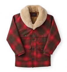 Filson Lined Wool Packer Coat Red/Green/Dark Brown