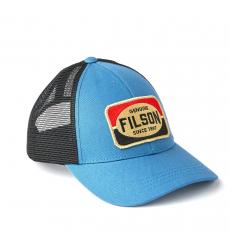 Filson Mesh Snap-Back Logger Cap 20189204-Blue front-side