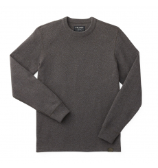 Filson Waffle Knit Thermal Crew Charcoal front
