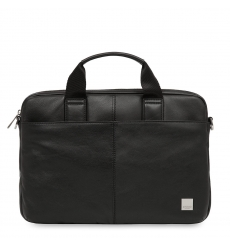 "Knomo Newbury 15"" Top Zip Briefcase Black"