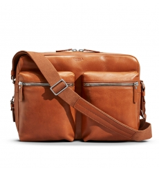 Shinola Zip Top Messenger Bourbon