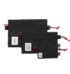 Topo Designs Accessory Bags Black Set of 3