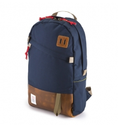Topo Designs Daypack Navy Brown Leather